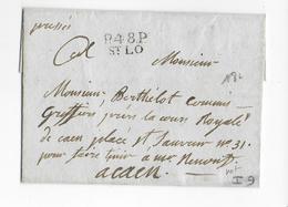 NON DATE - LETTRE En PORT PAYE De ST LO (MANCHE) => CAEN (CALVADOS) - 1801-1848: Precursori XIX