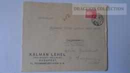 ZA216.3 Hungary Cover - KÁLMÁN LEHEL- 1939 To Dr.Csekey István Prof.Pécsvárad/Pécs Genealogy Correspondence -Documents - Lettere