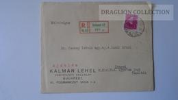 ZA216.4 Hungary R Cover - KÁLMÁN LEHEL- 1936  To Dr.Csekey István Prof. SZEGED Genealogy Correspondence -Documents - Lettere