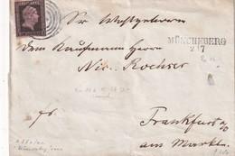 PREUSSEN LETTRE DE MÜNCHEBERG POUR FRANKFURT - Preussen