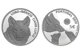"PORTUGAL 5 Euro  2.019  2019  ""ESPÉCIES ANIMAIS AMEAÇADAS - LOBO-IBÉRICO""  CU-NI  SC/UNC   T-DL-12.285 - Portugal"