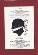 CORSE CORSICA AFFISU  OU AFFICHE DI LOTTA ANNÉE 1970 - Non Classés
