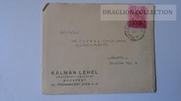 ZA216.5 Hungary Cover - KÁLMÁN LEHEL- 1938  To Dr.Csekey István Prof. SZEGED Genealogy Correspondence -Documents - Lettere