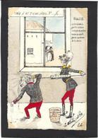 CPA La Flèche Satirique Franc Maçonnerie Fiches André Litho Papier à La Forme Tirage Limité En 40 Ex. Clystère - Filosofia & Pensatori