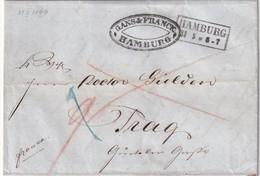 ALLEMAGNE 1849 LETTRE DE HAMBURG - [1] ...-1849 Préphilatélie