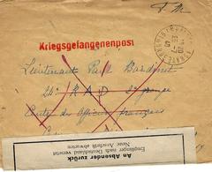 Juillet 1940 - Enveloppe D'Ambres ( Gironde ) Pour Un Officier Français P G  Avec Bande De Retour Bilingue - Marcophilie (Lettres)