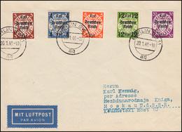 716ff Fünf Danzigmarken Auf Lp-Brief BERLIN 20.1.1940 Nach MOSKAU 25.1.40 - Germania