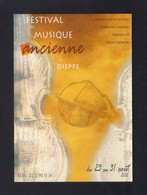 CPM.  Carte à Pub.  Festival De Musique Ancienne De Dieppe 2002. - Musique Et Musiciens