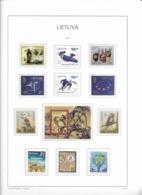 2014 MNH Lituania Year Collection Postfris** - Litauen