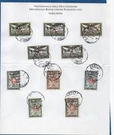 ITALIE- EGEO-RODI ( Ile De Rhodes ) 1932 - 20° Anniv De L'Occupation Italienne - Serie De 10 Val  Oblit S /docu- RARE - Ägäis (Rodi)
