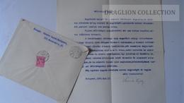ZA216.10 Hungary Cover -SZENTE LAJOS Bp. 1942 To Dr.Csekey István Prof. SZEGED -Genealogy Correspondence - Lettere