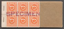 Österreich: 1945, Vorlage-Markenheftchen Der Amerikanischen Staatsdruckerei Mit Den 3 Gr. - 5 S. Fre - 1850-1918 Imperium