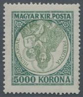 Ungarn: 5000 Kr Patrona Hungariae Mit Kopfstehendem Mittelstück! Postfrisches, Typisch Unruhig Gezäh - Ungheria