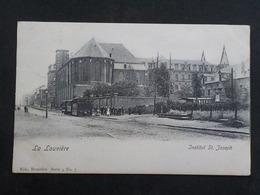 1902 CP Animée  La Louvière Institut Saint Joseph Tram Tramway Série 4 N° 7 - La Louvière