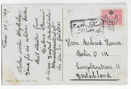 TURQUIE - 1917 - CARTE Avec CENSURE + OBLITERATION VOIVODA-GALATA => BERLIN (ALLEMAGNE) - 1858-1921 Empire Ottoman