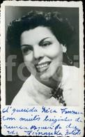 50s  REAL PHOTO POSTCARD ORIGINAL FERNANDA BAPTISTA FADO FADISTA ACTRIZ TEATRO PORTUGAL CARTE POSTAL - Theatre
