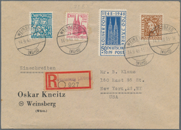 Bizone: 1948, 700. Jahrestag Der Grundsteinlegung Des Kölner Doms, Kompletter Satz Auf überfrankiert - Zone Anglo-Américaine