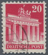 """Bizone: 1948, 20 Pfg. Bauten Type """"Z F"""", Gezähnt 11 1/4:11, Zart Eckgestempelt, Sehr Unregelmäßig Ge - Zone Anglo-Américaine"""