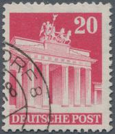 Bizone: 1948, Bautenserie: 20 Pf Brandenburger Tor Mit Sehr Seltenem Wasserzeichen Y, Kammzähnung 14 - Zone Anglo-Américaine