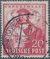 Bizone: 1948, 20 Pfg. Hannover Messe Mit Liegendem Wasserzeichen, Gestempeltes Prachtstück, Fotobefu - Zone Anglo-Américaine
