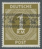 """Bizone: 1948, """"1 Mk. Braunoliv Mit Band- Bzw. Netzaufdruck"""", Zwei Postfrische Werte In Tadelloser Er - Zone Anglo-Américaine"""