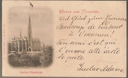 Poland & Circulated, Litografia, Gruss Aus Neurode, Kathol Pharrkirche, Bunzlau, Bolesławiec Poland 1898 (7) - Polonia