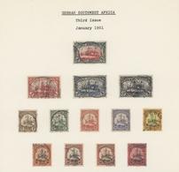 Deutsch-Südwestafrika: 1897/1919, Meist Gestempelte Sammlung Mit U.a. Mi.-Nr. 11-21 B Und Mi.-Nr. 39 - Kolonie: Deutsch-Südwestafrika