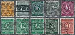 Bizone: 1945/1949, Starke Gestempelte Sammlung In Meist Sehr Guter Erhaltung Im Leuchtturm-sF-Vordru - Zone Anglo-Américaine