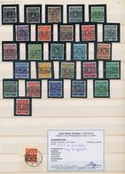 Bizone: 1948, 1 Bis 84 Pfg Ziffer Mit Band- & Netzaufdruck, Weit überkompletter Gestempelter Prachts - Zone Anglo-Américaine
