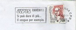 AVIS ITALIA ITALY SANGUE BLOOD BLUT SANG FIAMMA FLAMME OBLITERATION CANCELLATION - Primo Soccorso