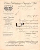 12-1174   1891   CHAUX HYDRAULIQUES & CIMENTS DE L AUBE A PARIS - M. HUPRE VAJOU A NOGENT SUR SEINE - Francia