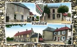 ALLIER  SORBIER  Hotel, Mairie, Poste   ( Cpsm) - France
