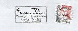 NEBBIOLO VINO GRAPES WINE WEIN VIN ITALIA ITALY FIAMMA FLAMME OBLITERATION CANCELLATION - Vini E Alcolici