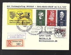 1957 Scarce 1st Flight Berlin Zwickau Karl Marx Stadt (424) - DDR