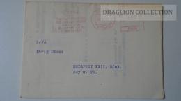 ZA217.7 Hungary- EMA -  METER STAMP -  FREISTEMPEL  -  60 Filler 1970 -Meghívó Invitation Yugoslavia - Ungheria