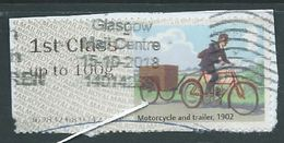 GROSSBRITANNIEN GRANDE BRETAGNE GB POST&GO 2018  R.M.H. MAIL BY BIKE: MOTORCYCLE AND TRAILER1902 FCup To 100g SG FS214 - Post & Go (distribuidores)