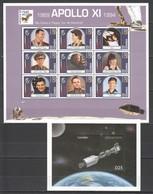 P366 1994 GAMBIA SPACE APOLLO XI & SOYUZ 25TH ANNIVERSARY GAGARIN TERESHKOVA 1KB+1BL MNH - Andere