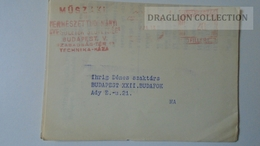 ZA217.9 Hungary- EMA -  METER STAMP -  FREISTEMPEL  -  20 Filler 1960's  Vác Dunai Cement - Ungheria
