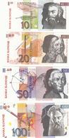 SLOVENIJA  KOMPLET TOLAR TOLARJI I. SERIJA 1992 BANKNOTE SLOVENIA 10, 20 50, 100, 200, 500 ,1000 TOLAR - Eslovenia