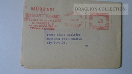 ZA217.11 Hungary- EMA -  METER STAMP -  FREISTEMPEL  -  20 Filler 1962 Invitation - Ungheria