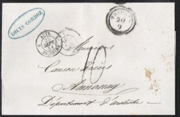 TRIESTE Precursor (without Contenence) 1851 To ANNONAY (France) Different Cancellations - 1850-1918 Empire
