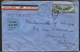 USA - Airmail Trans-atlantic 30c Stamp On Cover Providence To Belgium 1941+ German Censor  (vert. Fold) (x76) - 2a. 1941-1960 Used