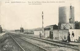 CPA 27 Eure Arnières Sur Iton Vue De La Prise D'Eau Des Trains En Marche Les Réservoirs Chemin De Fer - Autres Communes