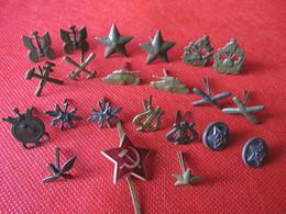 Soviet Russian USSR Army Field Uniform Collar Tab Camo Pin BADGE Lot 22 Pcs.Red Star - Army