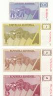 SLOVENIJA  KOMPLET TOLAR BONI 0,50 1  2  5  10  50  100  200  500  1000  2000  5000 SLOVENSKI BONI BANKNOTE - Eslovenia