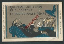 Publicité Cigarette, Carte à Jouer. Réduction De L'affichette De Mr Em Berchmans.  Illustration Rare,signée. 2 Scans. - Publicité