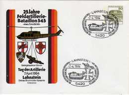 BRD, 1984, Sonderumschlag Tag Der Artillerie, 25 Jahre Feldartillerie Bataillon 545 Mit SST Lahnstein [190719KII] - [7] West-Duitsland