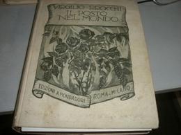 LIBRO IL POSTO NEL MONDO -VIRGILIO BROCCHI -ILLUSTRATO DA SACCHETTI - Old Books