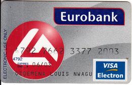 GREECE - Eurobank Visa(reverse Schlumberger)(1144), 09/01, Used - Cartes De Crédit (expiration Min. 10 Ans)