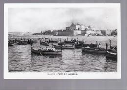 MALTA  Fort St Angelo OLD POSTCARD - Malta